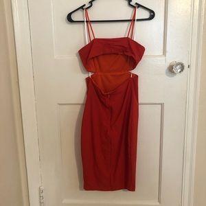 Fashion Nova Cut-out Midi Dress